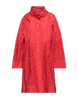 Легкое пальто ERMANNO SCERVINO. Цвет: красный