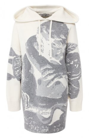 Пуловер из смеси шерсти и кашемира Valentino. Цвет: бежевый