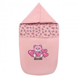 Хлопковый конверт Moschino. Цвет: розовый