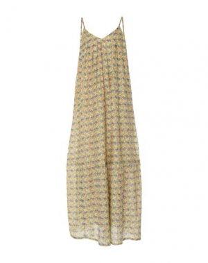 Длинное платье ATTIC AND BARN. Цвет: желтый