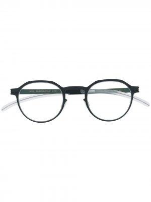 Armstrong round frame glasses Mykita. Цвет: синий