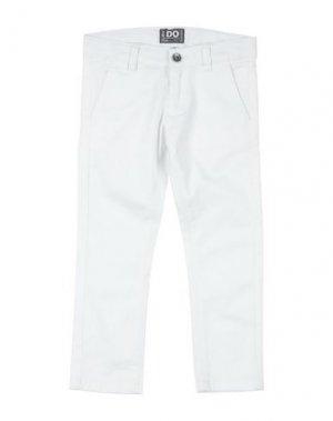 Повседневные брюки iDO by MINICONF. Цвет: белый