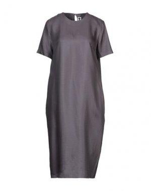 Платье до колена HACHE. Цвет: темно-синий