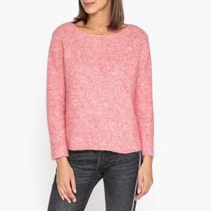 Пуловер из меланжевого трикотажа ZAPITOWN, Эксклюзив от Brand Boutique AMERICAN VINTAGE. Цвет: розовый