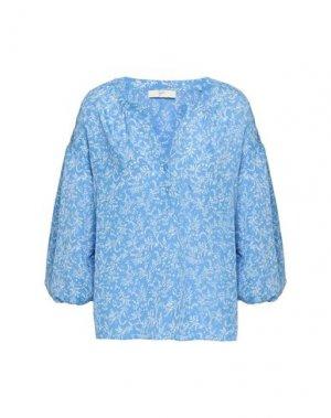 Блузка JOIE. Цвет: лазурный