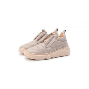 Кожаные кроссовки AGL. Цвет: розовый