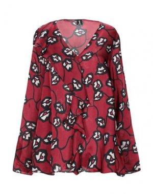 Блузка 1-ONE. Цвет: красно-коричневый