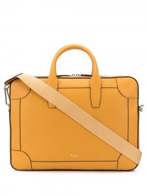 Сумка для ноутбука Belgrave с логотипом Mulberry. Цвет: желтый