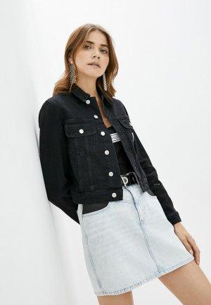 Куртка джинсовая Calvin Klein Jeans. Цвет: черный