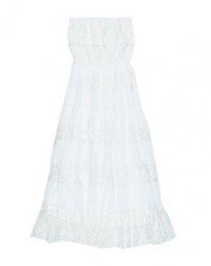 Платье FRACOMINA MINI. Цвет: белый