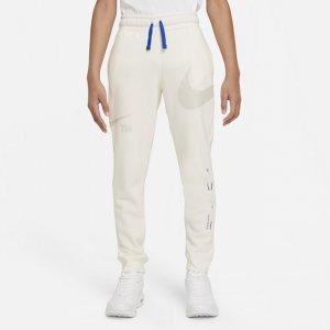 Флисовые брюки для мальчиков школьного возраста Sportswear Swoosh - Серый Nike
