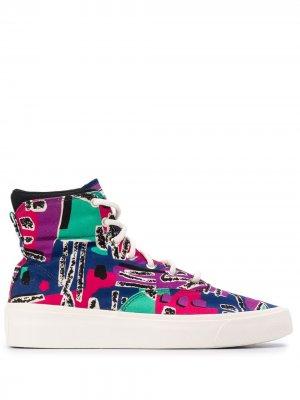 High-top abstract print sneakers Converse. Цвет: фиолетовый