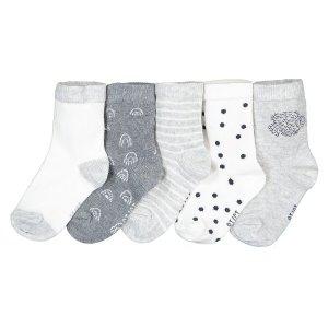 Комплект из 5 пар носков La Redoute. Цвет: бежевый