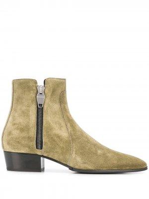Ботинки на молнии Balmain. Цвет: зеленый