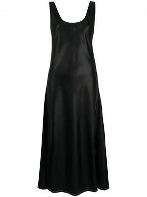 Платье миди без рукавов Acne Studios. Цвет: черный