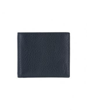 Бумажник NEIL BARRETT. Цвет: темно-синий