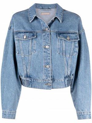 Укороченная джинсовая куртка 12 STOREEZ. Цвет: синий