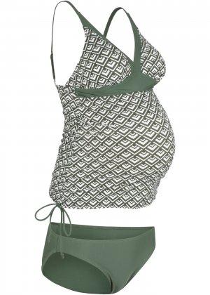 Купальник-танкини для беременных (2 изд.) bonprix. Цвет: зеленый