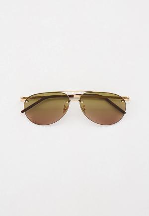 Очки солнцезащитные Saint Laurent SL 416. Цвет: золотой