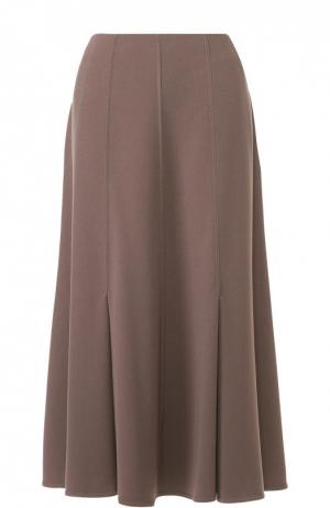 Расклешенная юбка-миди Giorgio Armani. Цвет: бежевый