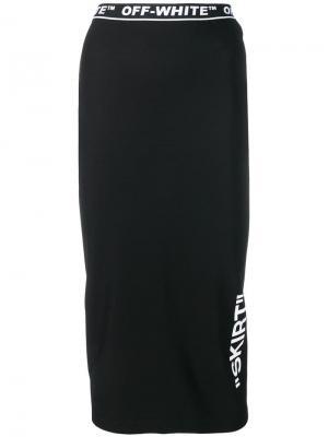 Юбка с принтом Skirt Off-White. Цвет: черный