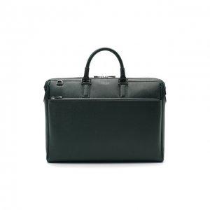 Кожаная сумка для ноутбука Serapian. Цвет: зелёный
