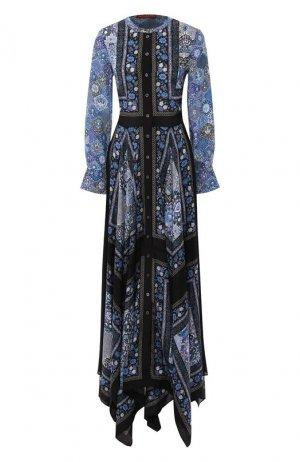 Шелковое платье Altuzarra. Цвет: голубой