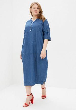 Платье джинсовое Berkline. Цвет: синий