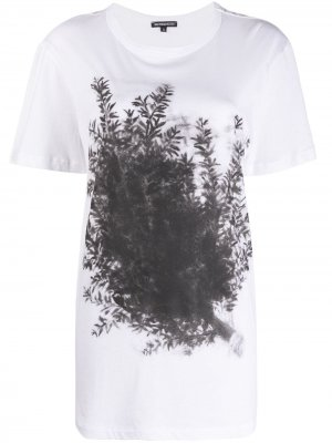 Удлиненная рубашка с принтом Ann Demeulemeester. Цвет: белый