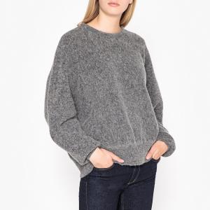 Пуловер трикотажный с вырезом-лодочкой HANAPARK AMERICAN VINTAGE. Цвет: серый