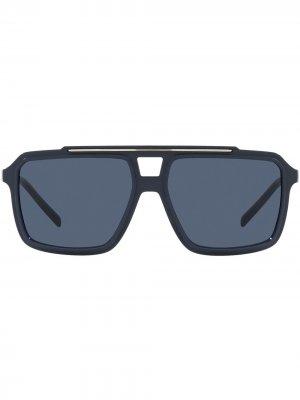 Солнцезащитные очки в квадратной оправе Dolce & Gabbana Eyewear. Цвет: синий