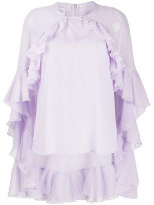 Блузка-кейп с оборками Giambattista Valli. Цвет: фиолетовый