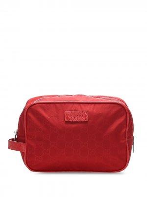 Клатч с узором GG Supreme Gucci Pre-Owned. Цвет: красный