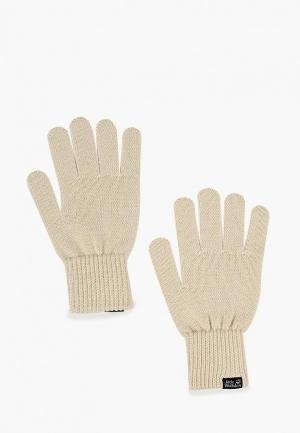Перчатки Jack Wolfskin MILTON GLOVE. Цвет: белый