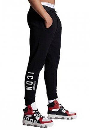Спортивные штаны DSQUARED2. Цвет: черный