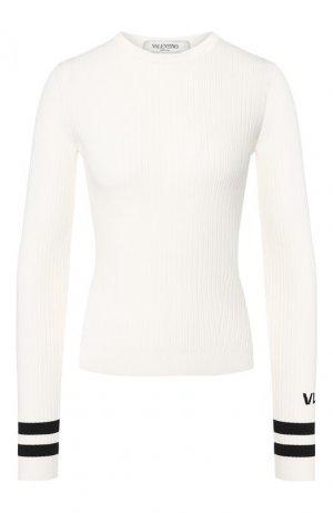 Пуловер из вискозы Valentino. Цвет: кремовый