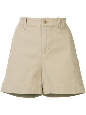 Короткие шорты чинос Vince. Цвет: телесный