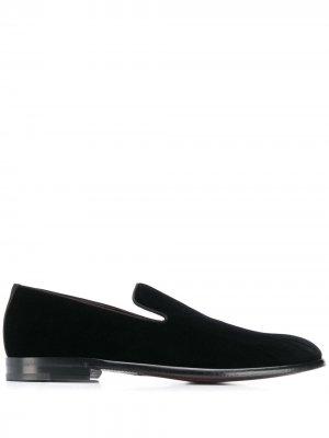 Бархатные слиперы Dolce & Gabbana. Цвет: черный