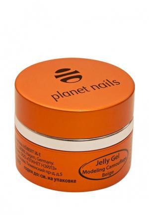Гель-лак для ногтей Planet Nails 11075 Modeling Camouflage Beige Jelly Gel камуфлирующий, бежевый. Цвет: бежевый