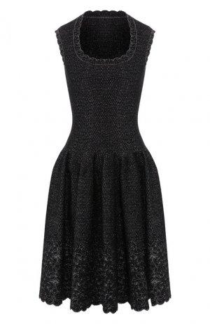 Платье Alaia. Цвет: серебряный