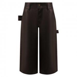 Кожаные шорты Bottega Veneta. Цвет: коричневый