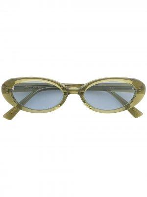 Солнцезащитные очки Dua OL1 в овальной оправе Gentle Monster. Цвет: зеленый