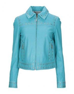 Куртка MARANI JEANS. Цвет: бирюзовый