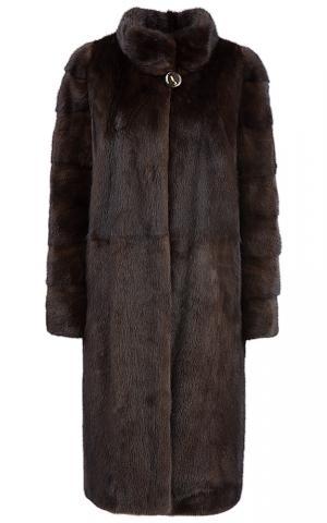 Длинная шуба из меха китайской норки Fellinberg