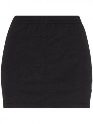 Юбка мини в спортивном стиле Vetements. Цвет: черный