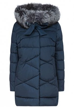 Утепленная куртка с отделкой мехом чернобурки Le monique