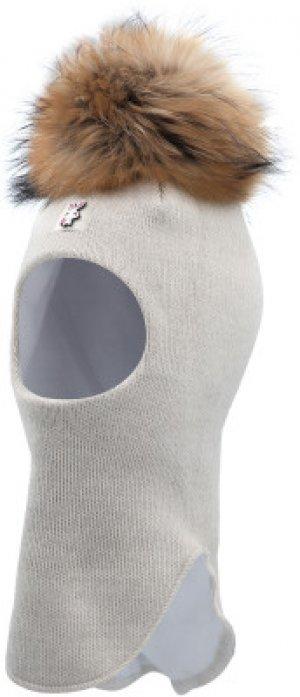Шапка-шлем для девочек Slamy, размер 53 Satila. Цвет: бежевый