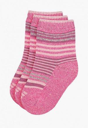 Носки 3 пары Feltimo. Цвет: розовый