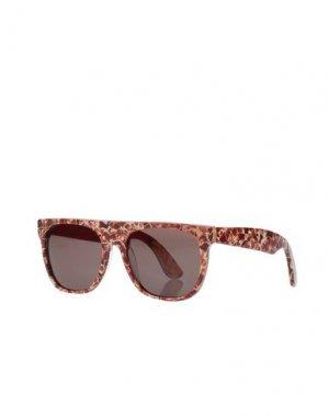 Солнечные очки SUPER by RETROSUPERFUTURE. Цвет: красно-коричневый