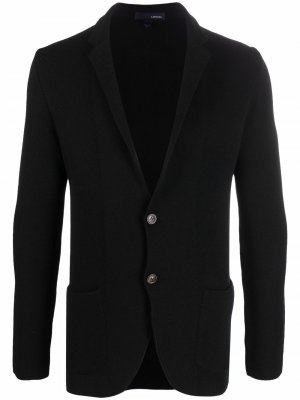 Однобортный пиджак строгого кроя Lardini. Цвет: черный
